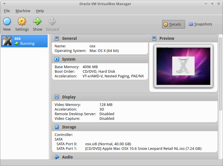 Virtualbox windows host macos guest