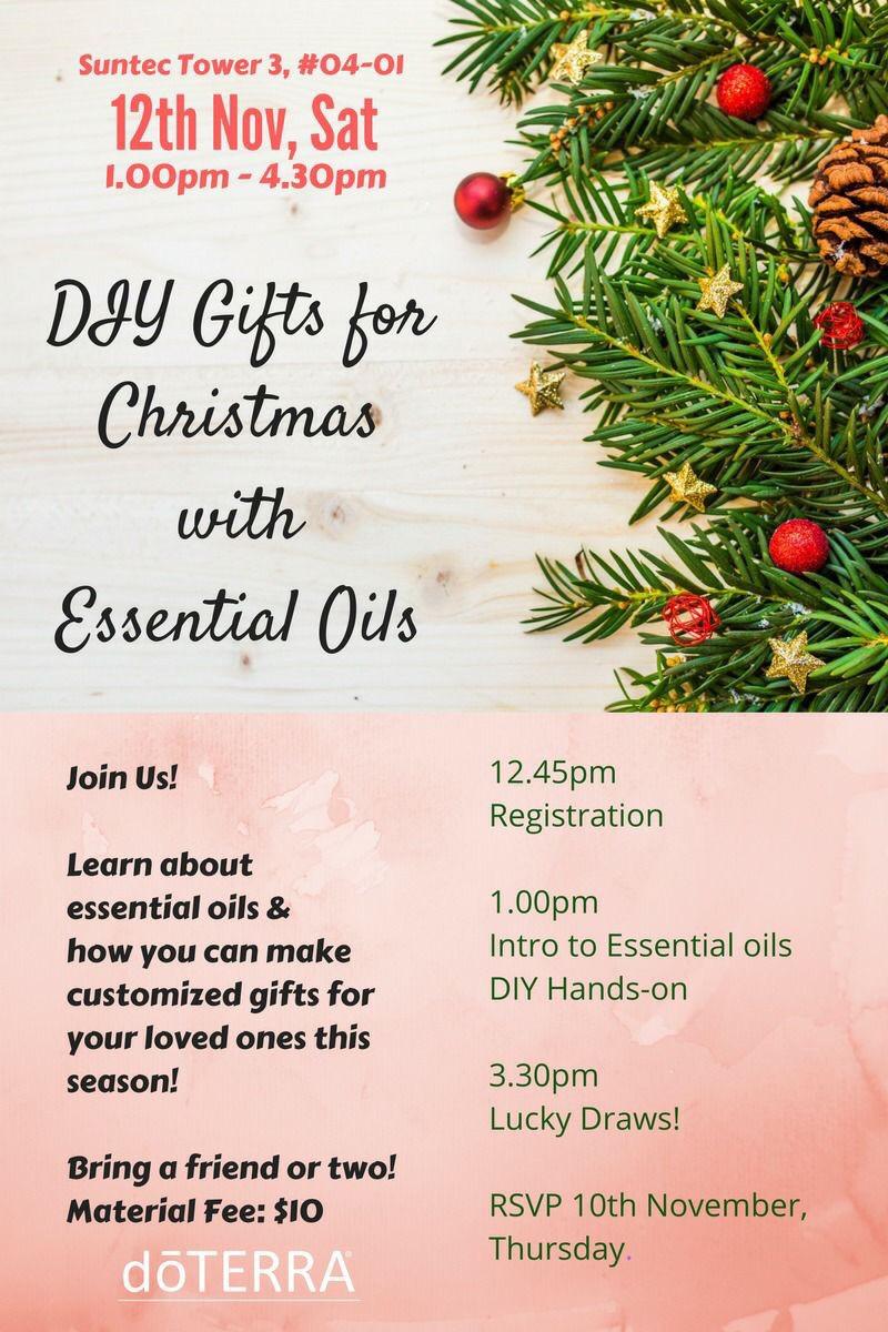 christmas essential oil present diy workshop peatix - Christmas Essential Oils