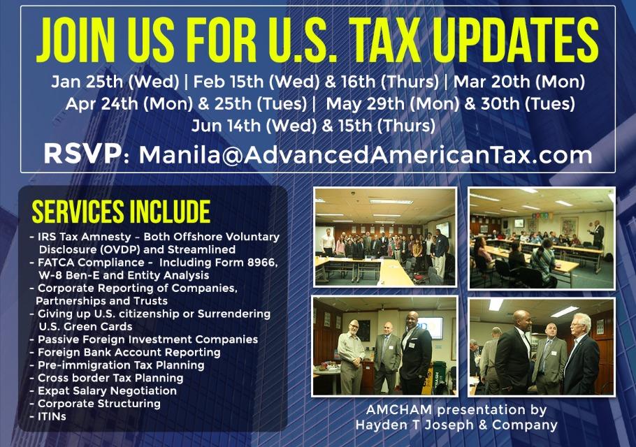 Join Us For Us Tax Updates Manila Bgc Peatix