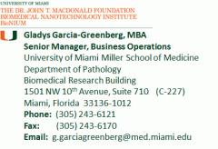Gladys Garcia-Greenberg, MBA