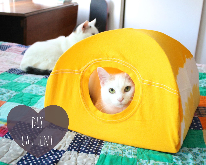 3つの材料で簡単!ネコ用テントの作り方