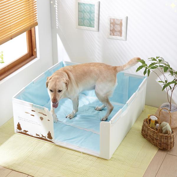 シニア犬の介護に大活躍! 大型室内用トイレが便利です