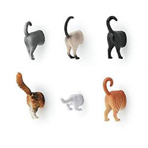 壁から猫のお尻が! 「キャット バット マグネット」が可愛い