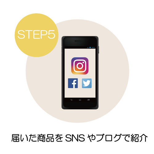 商品をSNSで紹介