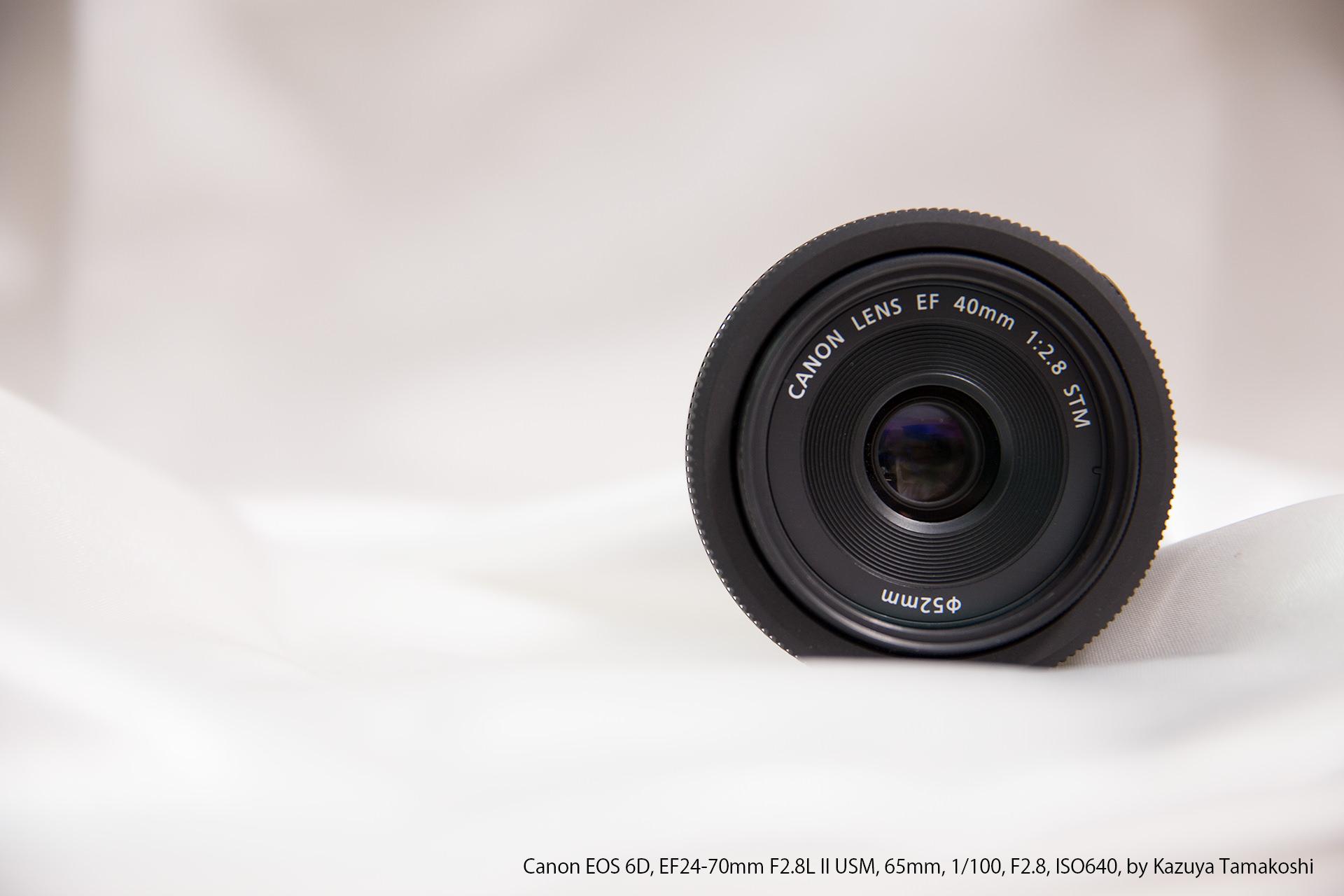 CanonのEF40mmF2.8STMのレンズ