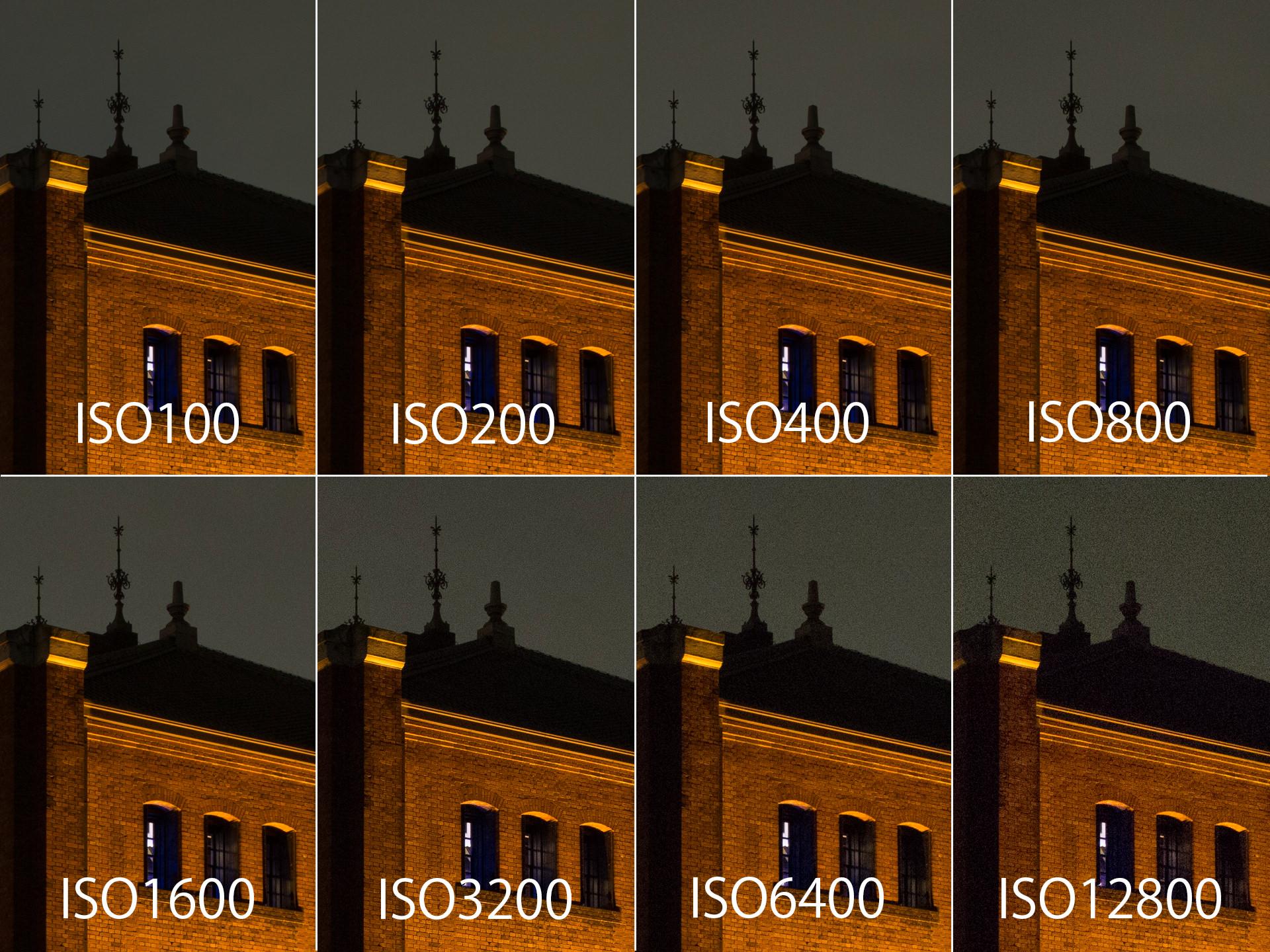 ISOによるノイズの変化