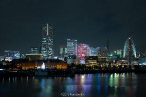 大さん橋から観たみなとみらいの夜景