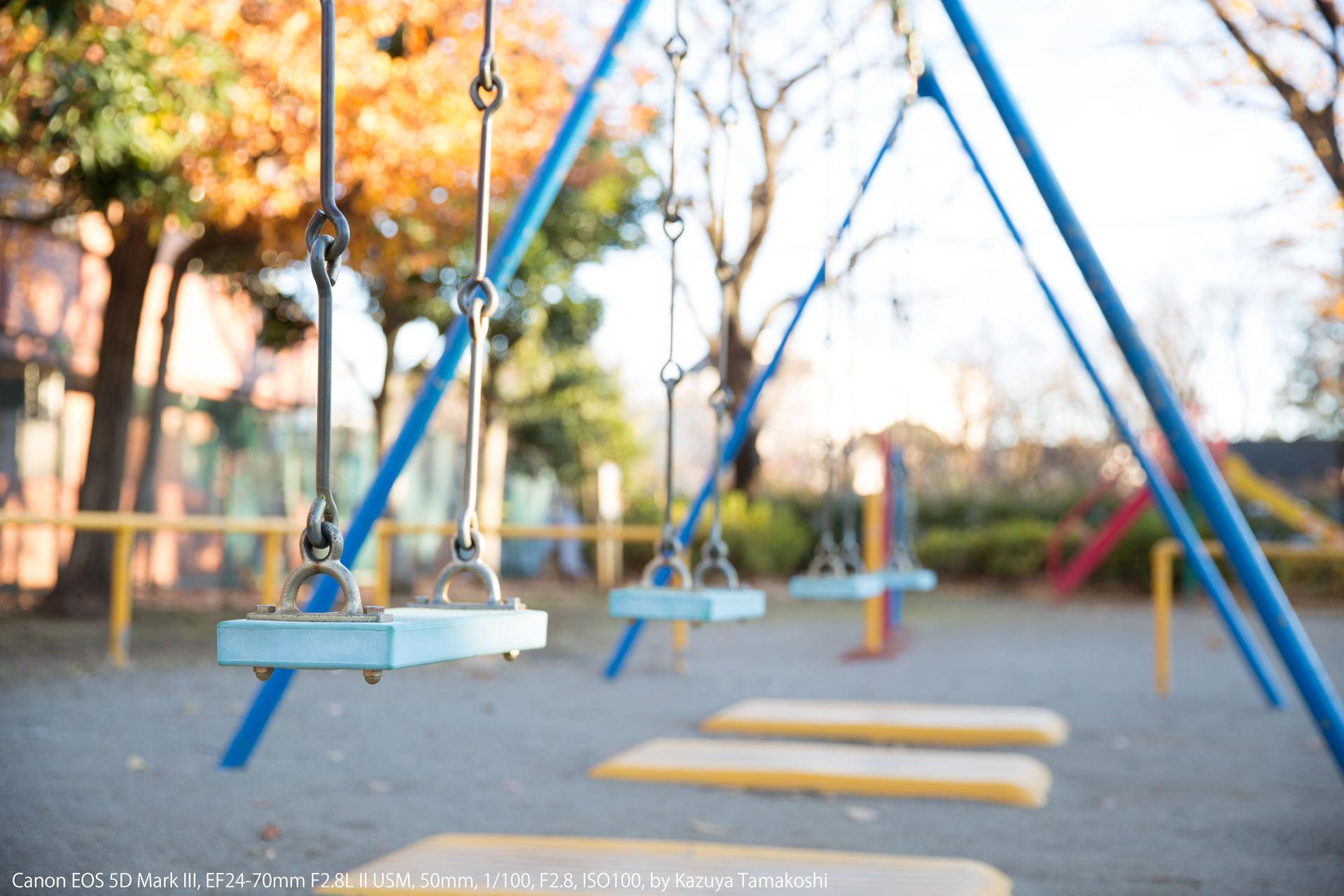 公園のブランコ(露出補正プラス2段)