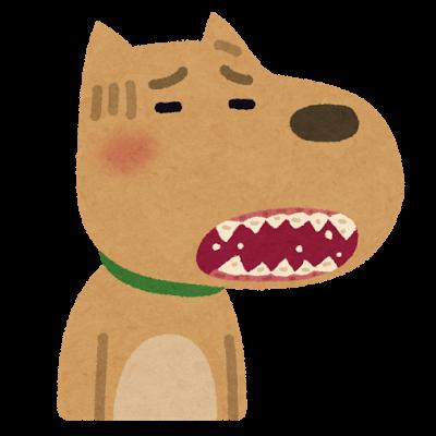 歯がボロボロになった犬