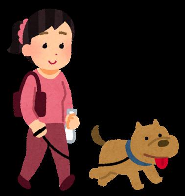 散歩する犬のイラスト