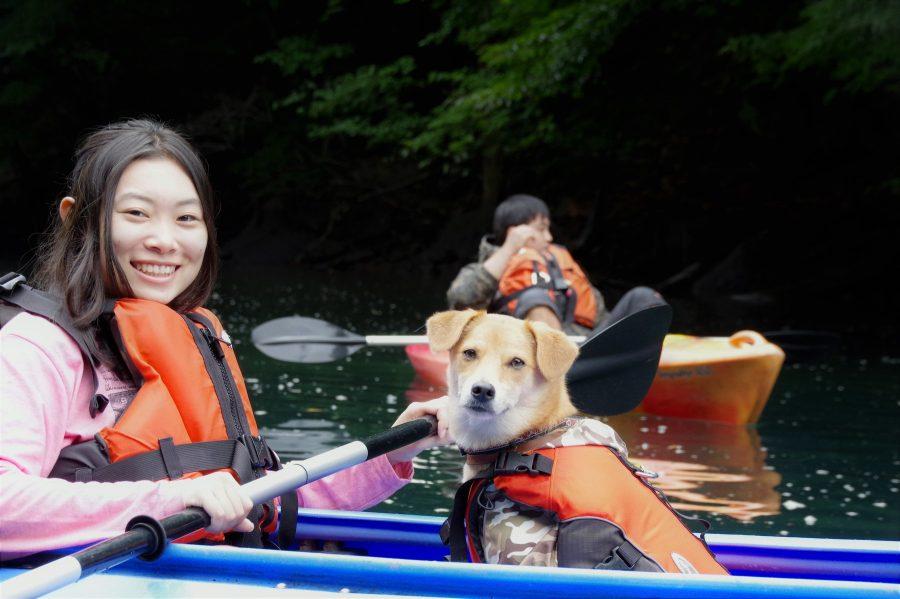 那須で犬とカヤック・SUP
