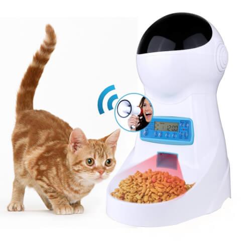 猫の自動給餌器