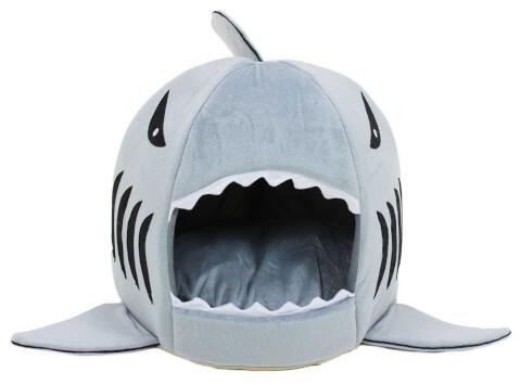 PetStyle ペットハウス サメ ドーム型 猫 ベッド