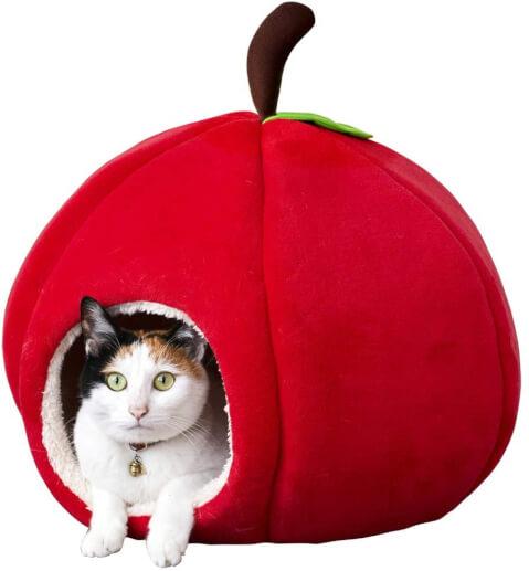 アマゾン リンゴ型猫ベッド