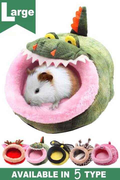 JanYoo 小動物用ハウス 取り外し可能なクッションの家