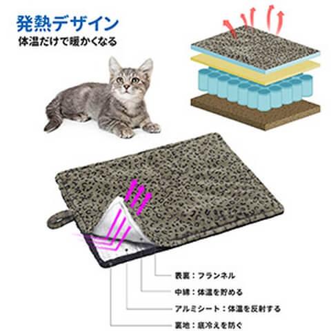 ペットマット 猫 犬ベッド 暖かい ペット用 ブランケット