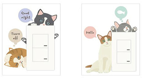猫雑貨 スイッチステッカー