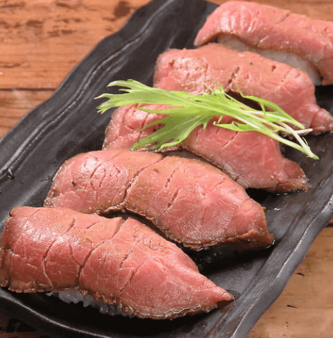 座バール 肉寿司