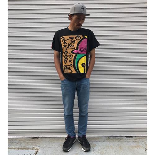 「ランプ・ロゴ」Tシャツ黒(2017年新作)