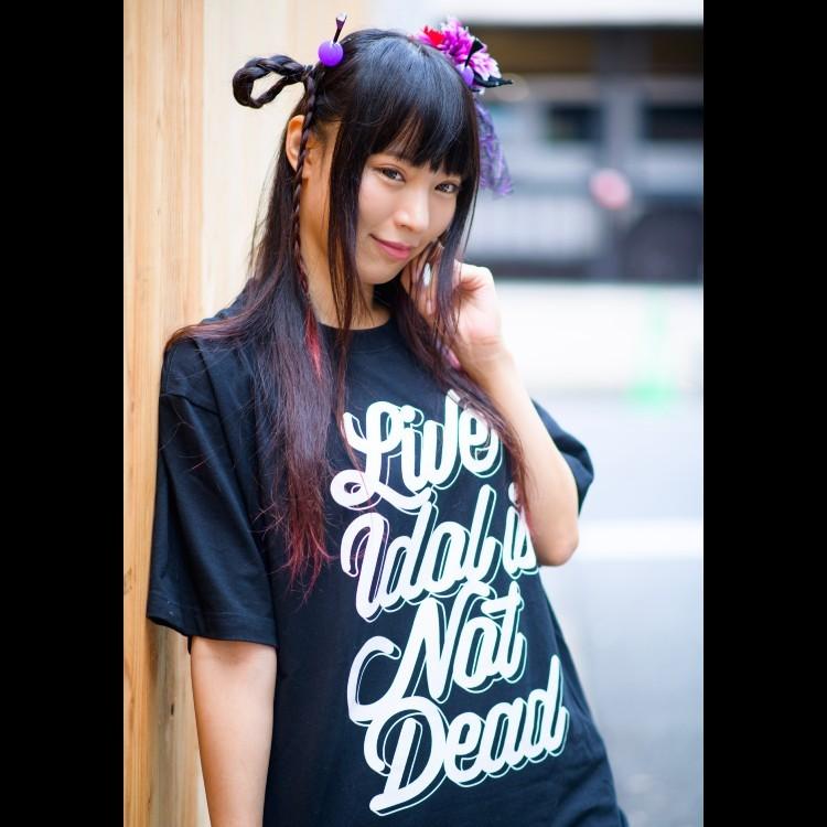 【月城まりな】LIVE IDOL IS NOT DEAD T-shirt