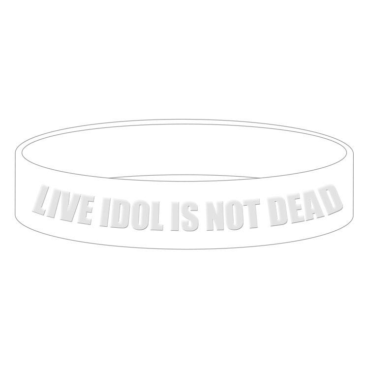 【チャリティー】LIVE IDOL IS NOT DEAD ラバーバンド<WHITE>
