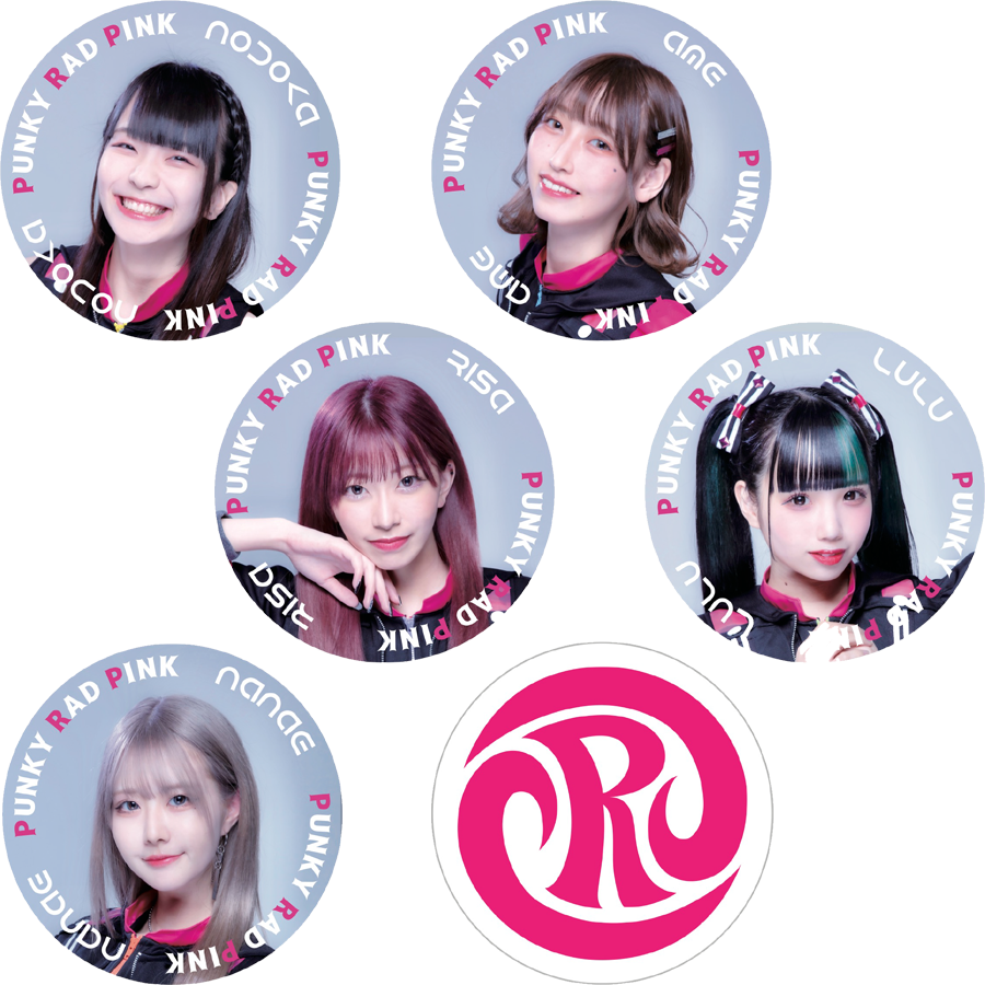 【PUNKY RAD PINK】缶バッジ cute