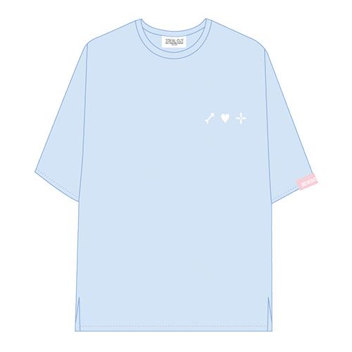 ハーフスリーブTシャツ ブルー