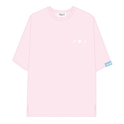 ハーフスリーブTシャツ ピンク