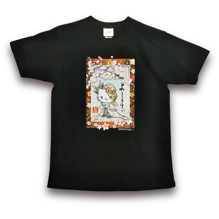 yoshikitty:Tシャツ・ブラック・2020・桜
