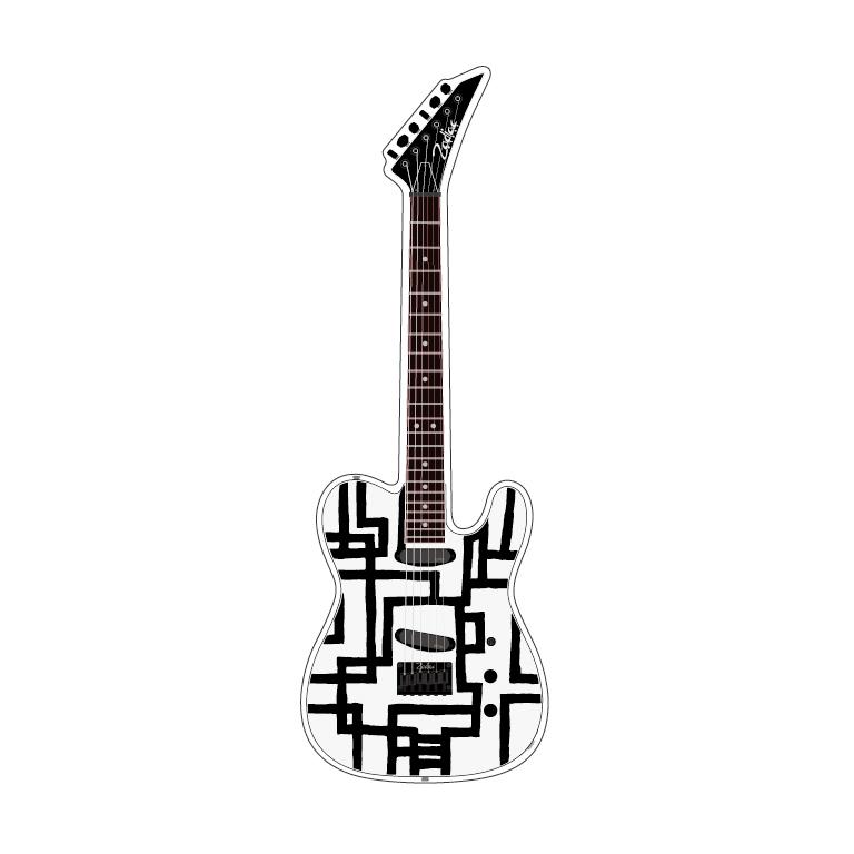 アクリル・ギターフィギュア #4 [BLACK LINE]