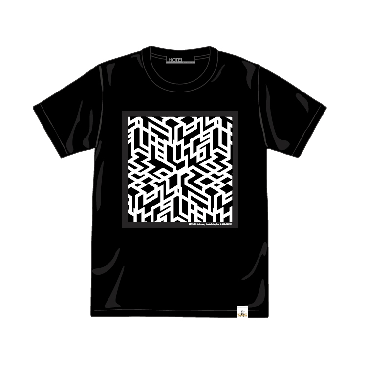 G柄(G-cube) TEE ブラック