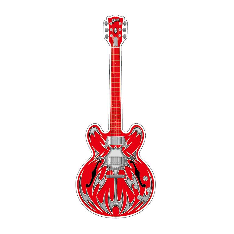アクリル・ギターフィギュア #6 [GIBSON ES-335 [LOVE JUNKIE Paint]]