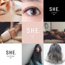 SHE.hairdesign / SHE.eyelash所属のSHE.hairdesign