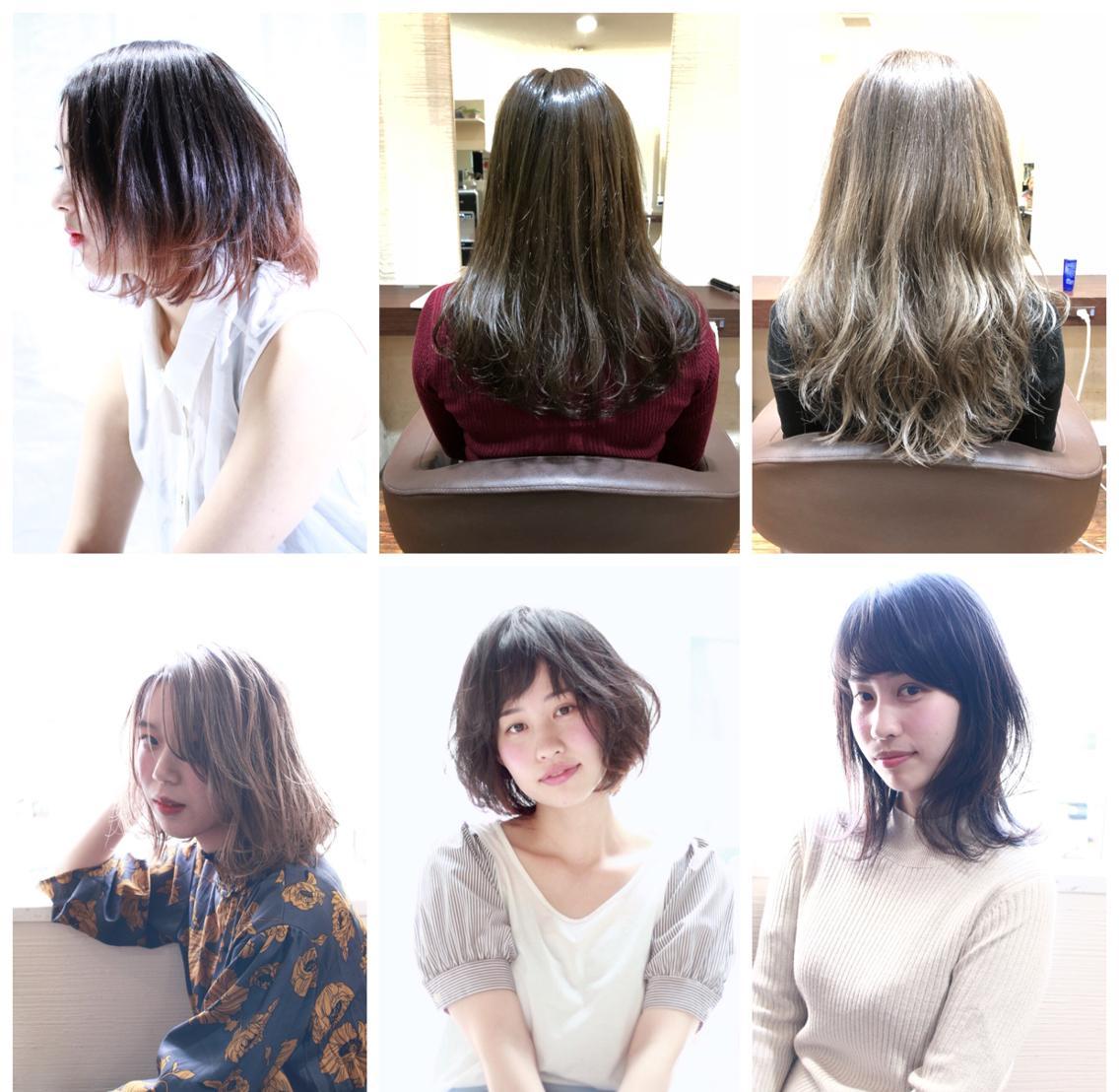 当日ご予約OK‼️ミニモ限定メニュー充実⭐️   外国人風カラーリングやグラデーションカラーで春に向けて艶髪に‼️