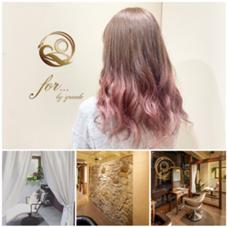 for...所属のhair salonfor...