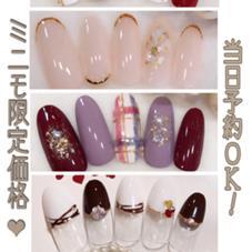 ★美爪育成コースモニター募集✨大人っぽいデザインが得意なサロン!