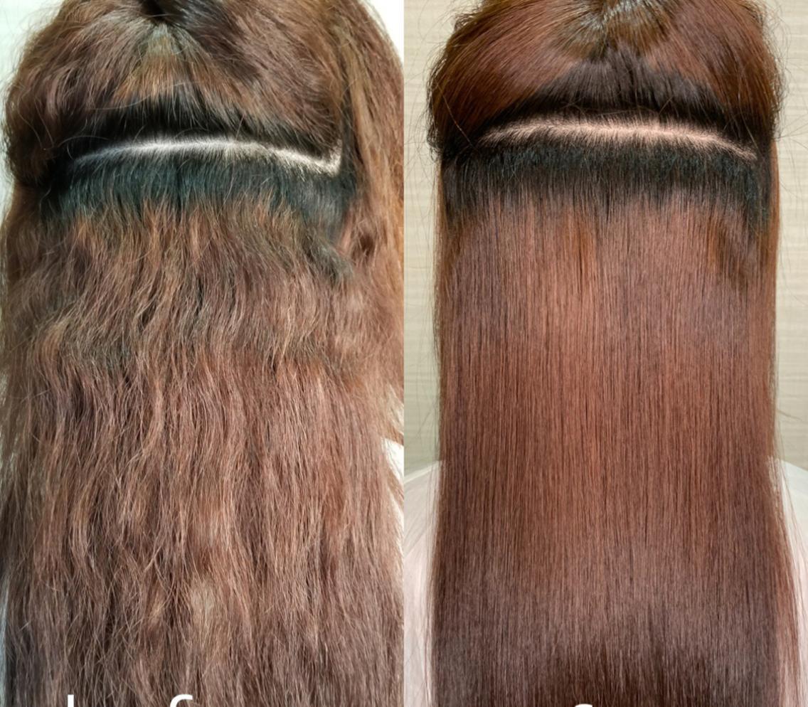 髪質改善‼️髪に負担のかからない材料を使用しており髪を綺麗に伸ばしていけるような施術をさせて頂きます✨