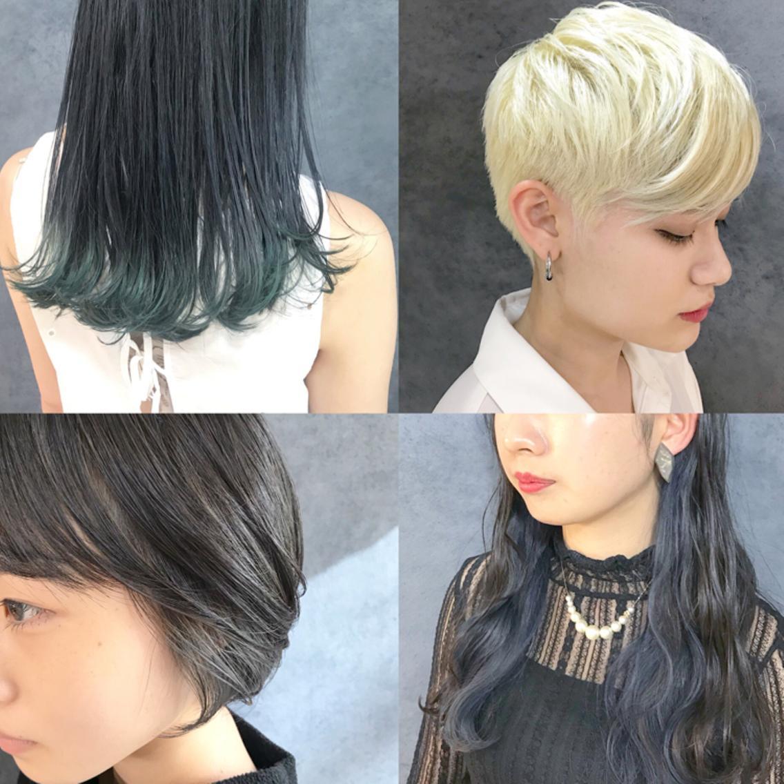 😍23日当日予約OK😍人気の透明感カラーや韓国人カラー、ブリーチ、デザインカラーのメニュー多数❗️カットしないメニューも選べるので気分に合わせてお得にメニューが選べます❗️