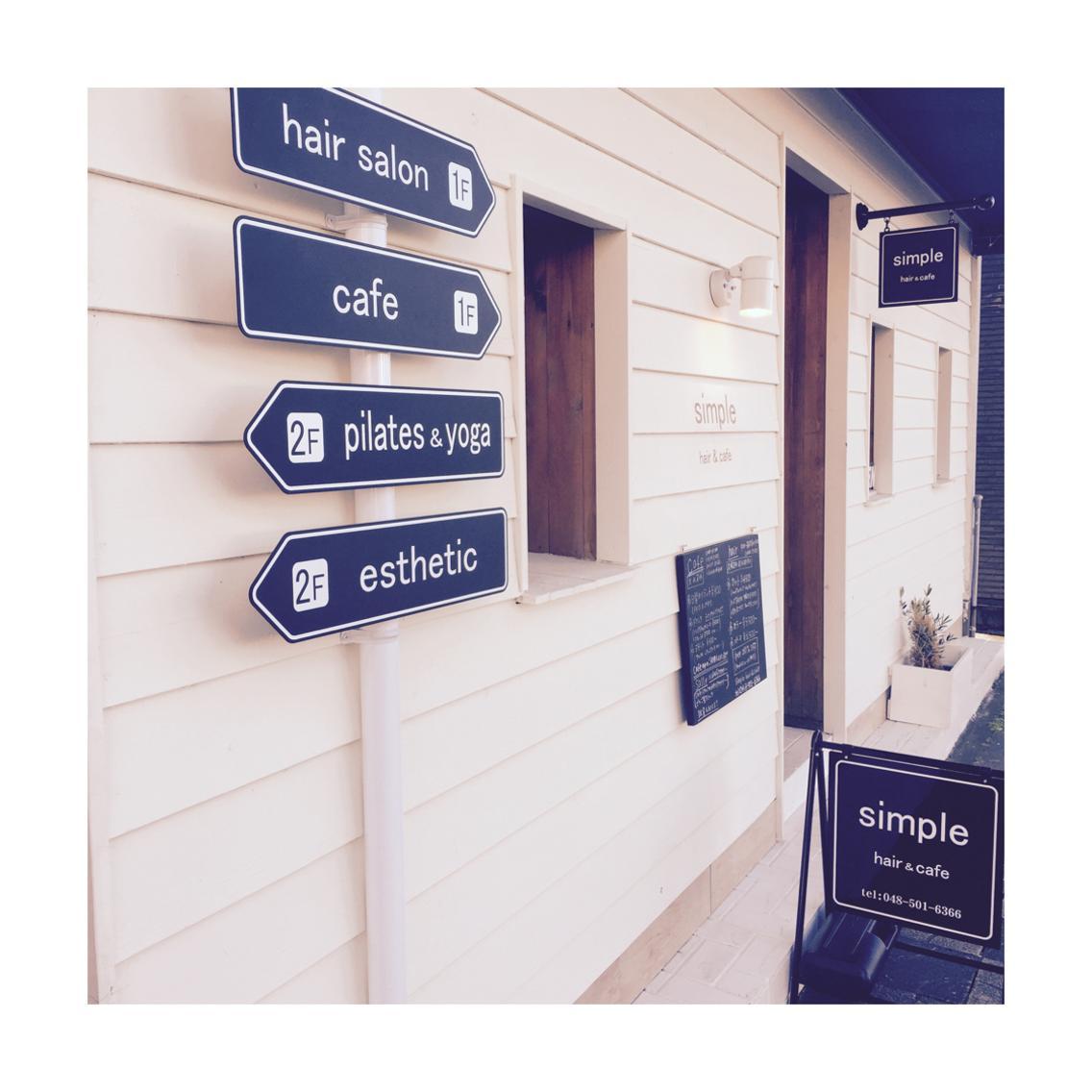 カフェと美容室が併設したサロンです!!