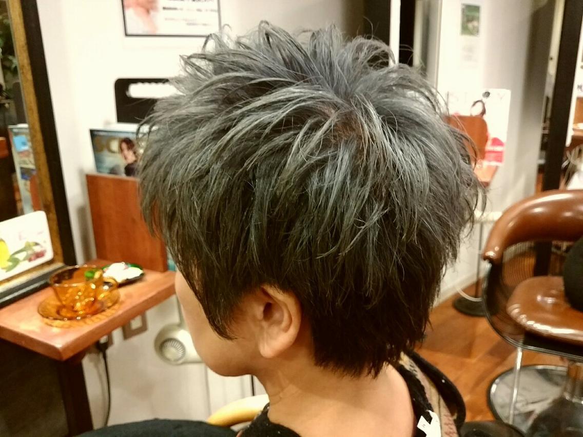 パンキッシュグレイヘア
