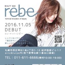 rebe(レビー)琴似店所属の小林俊介