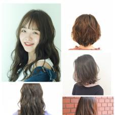 明るい髪の方の根元染め