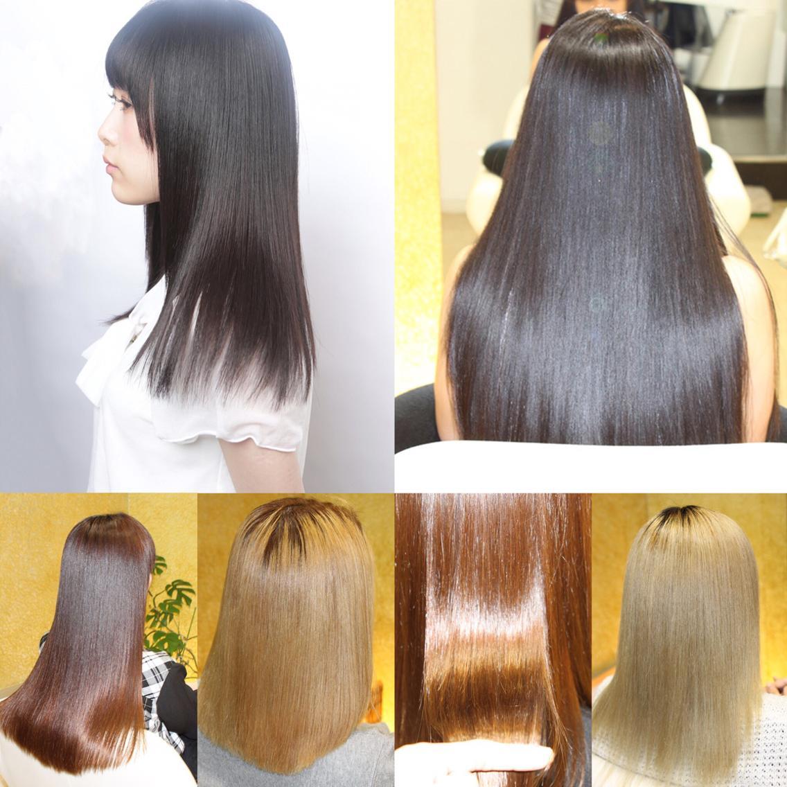 大好評の縮毛矯正‼️ダメージがひどく縮毛矯正を他店で断られた方でも大丈夫です!ブリーチ毛でも対応出来る縮毛矯正はやる前より超サラサラになります。・ミニモ限定特別クーポン50%〜70%OFF