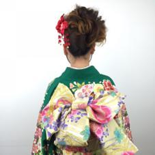 奈良県桜井市の美容室BAGUS(バグース)早朝の結婚式のアップや着付も大好評。