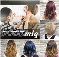 hair&makeup miq所属の田中明日香