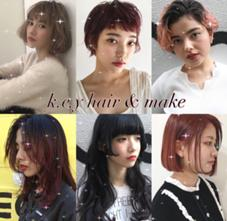 k.e.y hair & make所属の西田万鈴
