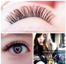()inni   hair design works所属の佐々木麻帆