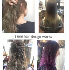 inni hair design works所属の中渡瀬梓