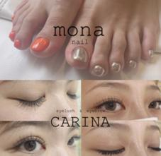 hair make Brand new , CARINA eyelush , mona nail 東生駒店所属の親泊真里奈