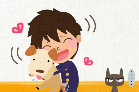 彼は猫より犬が好きです。の英作文